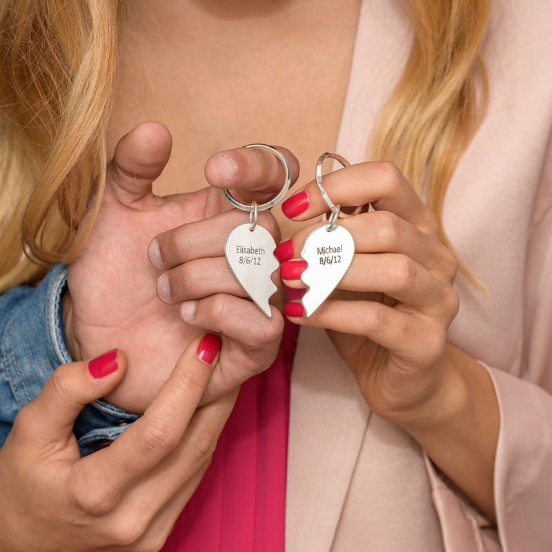 Brytbar hjärtnyckelring - 2