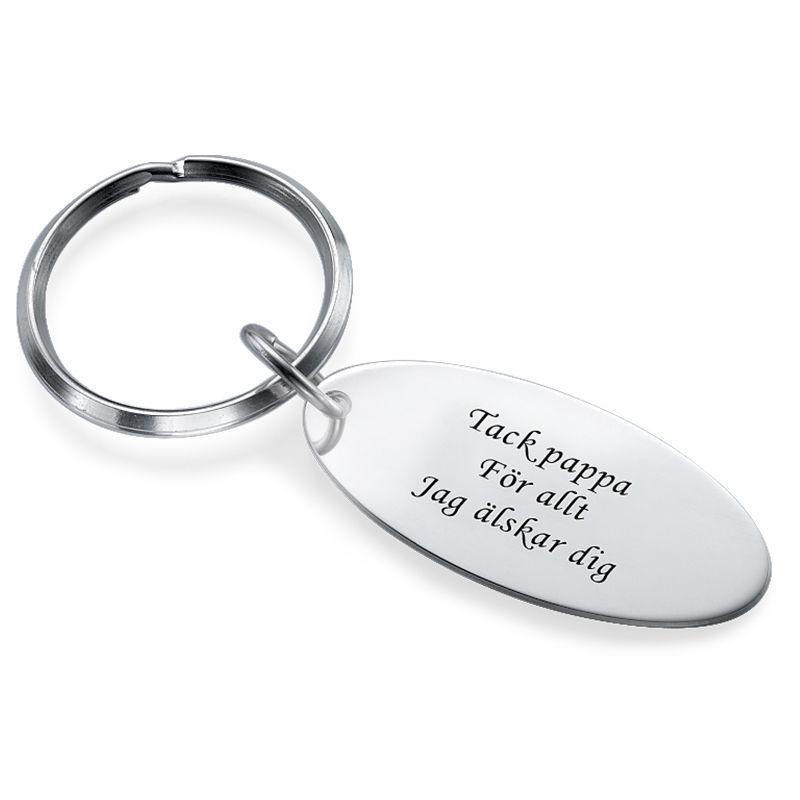 Oval Nyckelring