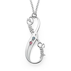 Vertikalt Infinity Halsband med Månadsstenar produktbilder