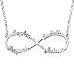 Infinity Halsband med 4 Namn produktbilder