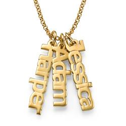 Vertikalt Namn halsband med Guldplätering produktbilder