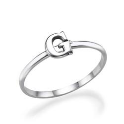 Initial Ring i Sterling Silver produktbilder