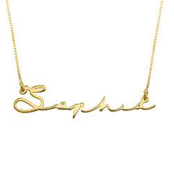 Namnhalsband med Signatur Stil i 14k Guld produktbilder