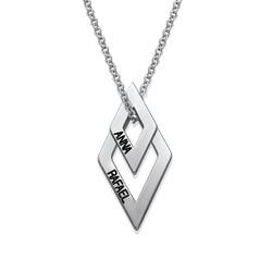 Personligt geometriskt halsband produktbilder