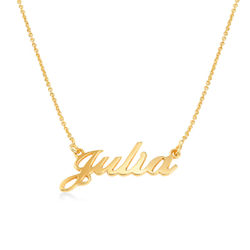 Litet Klassiskt Namnhalsband i Guld Vermeil product photo