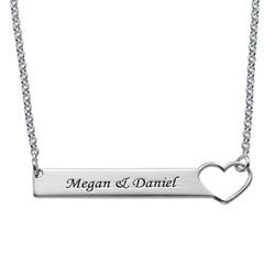 Brick halsband med hjärta - sterling silver product photo