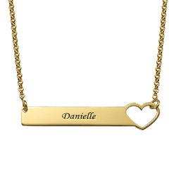 Brick halsband med hjärta - guldpläterat produktbilder