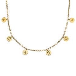 Choker Halsband med Bokstäver i Guldplätering produktbilder