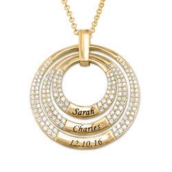 Mamma Halsband med Cirkel i Guldplätering produktbilder