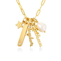 Siena Namnbricka Halsband i 18k Guldplätering produktbilder