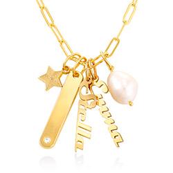 Siena Namnbricka Halsband i Guld Vermeil produktbilder