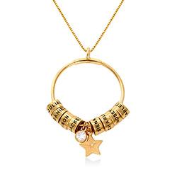 Stort Linda cirkelhalsband i 18k guldplätering produktbilder