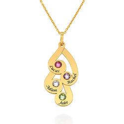Halsband med Månadssten till Mamma i 18k Guldplätering produktbilder