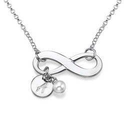 Infinity Halsband med Bokstav i Silver produktbilder