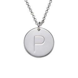 Halsband med Bokstavsberlock och Månadssten i Silver produktbilder