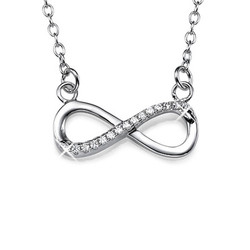 Silver Infinity Halsband med Cubic Zirconia produktbilder