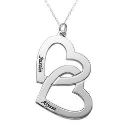 Halsband med Hjärta i 10K Vitt Guld produktbilder