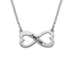 Personligt Infinity Hjärt Halsband produktbilder