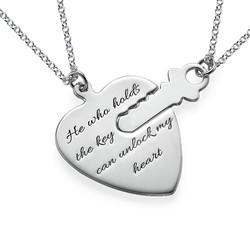 Nyckel till mitt hjärta - Graverat halsband produktbilder