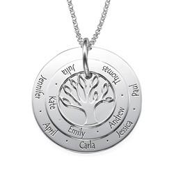 Personligt Mors smycke - Familjeträd halsband produktbilder