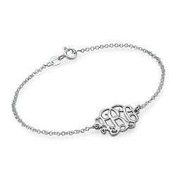 Sterling Silver Monogram Armband eller Fotlänk produktbilder