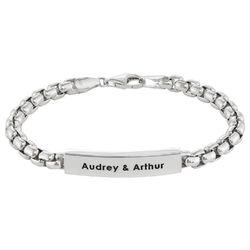 ID armband för män i sterling silver produktbilder