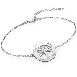 Livets träd-armband i silver med gravyr produktbilder