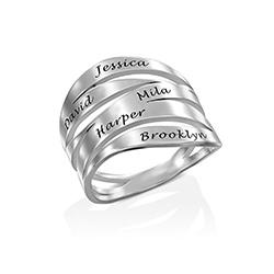 Margeaux Personlig Ring med Gravyr i Sterling Silver produktbilder