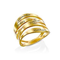 Margeaux Personlig Ring med Gravyr i Guldplätering produktbilder