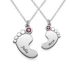 Mor och dotter babyfötter Halsband produktbilder