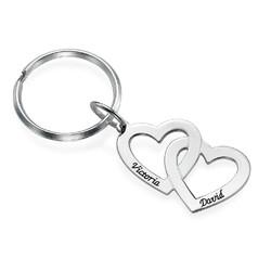 Hjärta i hjärta - nyckelring i Sterling silver product photo