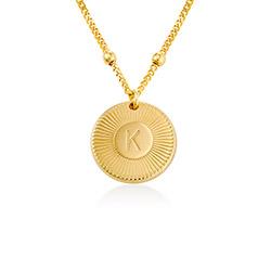 Rayos Bokstavshalsband i Guld Vermeil produktbilder