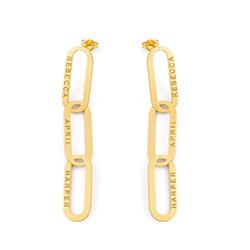 Aria Länkörhängen i Guld Vermeil produktbilder