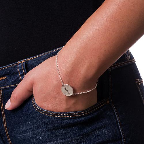 Personligt Armband eller Fotlänk Med Graverad Bricka - 2