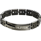 Armband i svart Rostfritt stål
