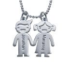 Barn som Håller Hand  Berlock Halsband