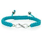Blått Oändlighets- Vänskaps Armband
