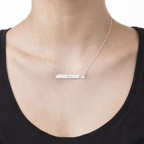Brick halsband med gravering och Babyfötter - 2