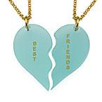 Brytbart Akryl Hjärt Halsband för par