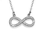 CZ Diamant Infinity Halsband