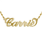 Carrie Style 14K Guld Namnhalsband