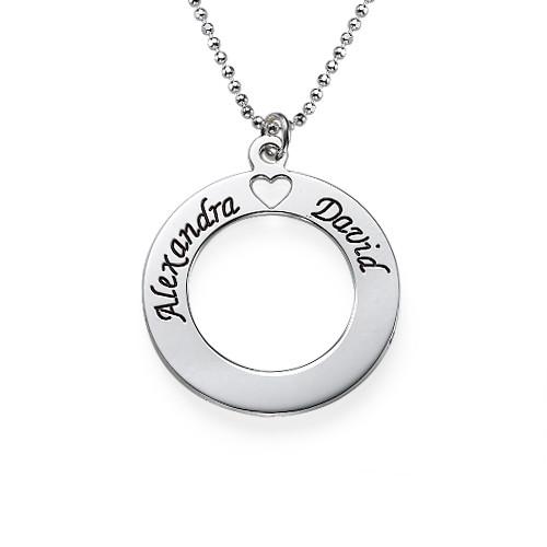 Circle of Love Halsband i Silver