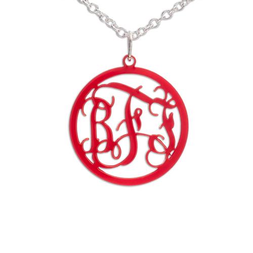 Cirkel Monogram Halsband i färg