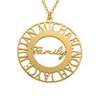 Cirkelhalsband till mamma i guldplätering