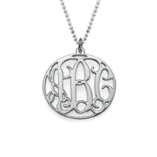 Cirkelmonogram i äkta silver