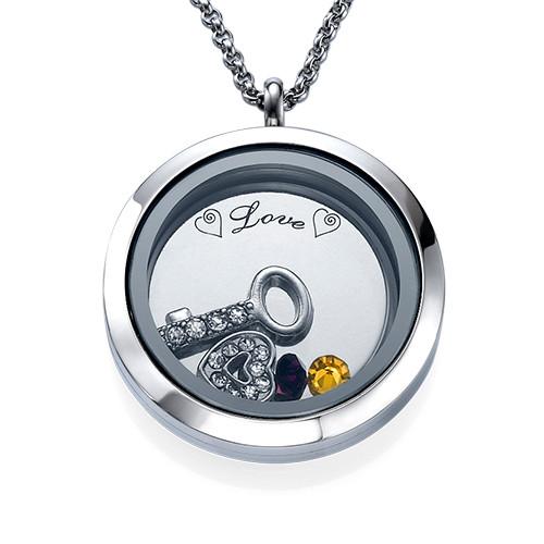 Du är nyckeln till mitt hjärta Flytande berlock halsband