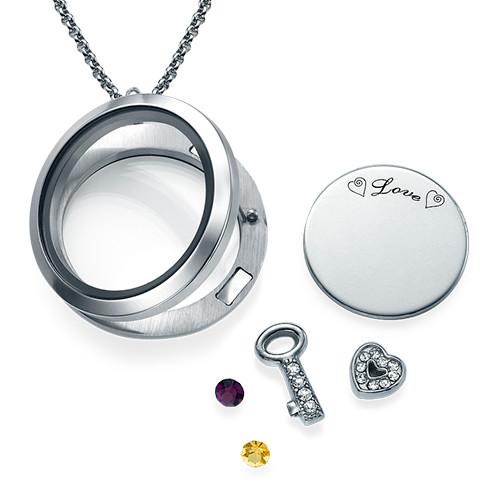 Du är nyckeln till mitt hjärta Flytande berlock halsband - 1