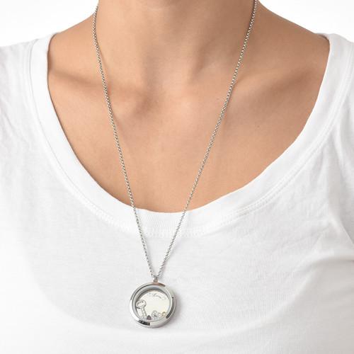 Du är nyckeln till mitt hjärta Flytande berlock halsband - 4