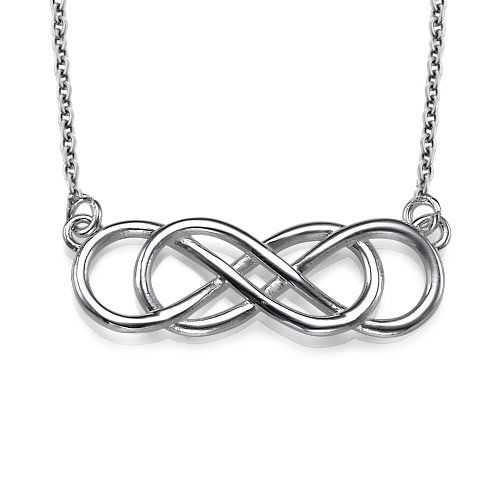 Dubbelt Infinity Halsband i Sterling Silver