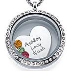 En Mors Kärlek Flytande Berlock Halsband